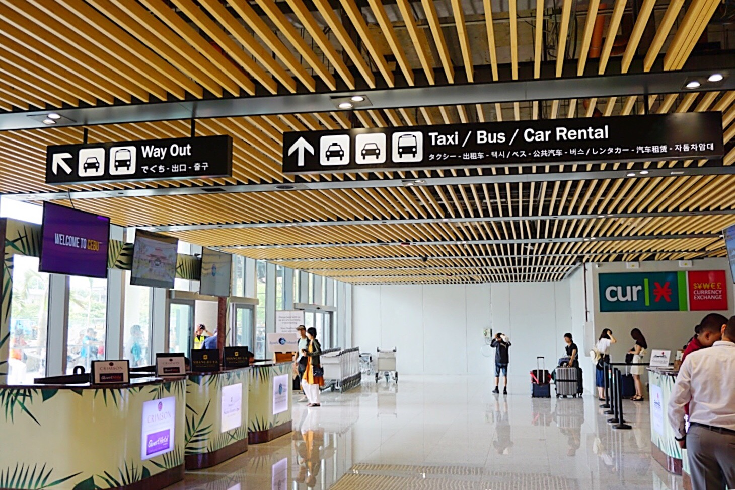 Cebu New terminal pickup location at Mactan International Airport