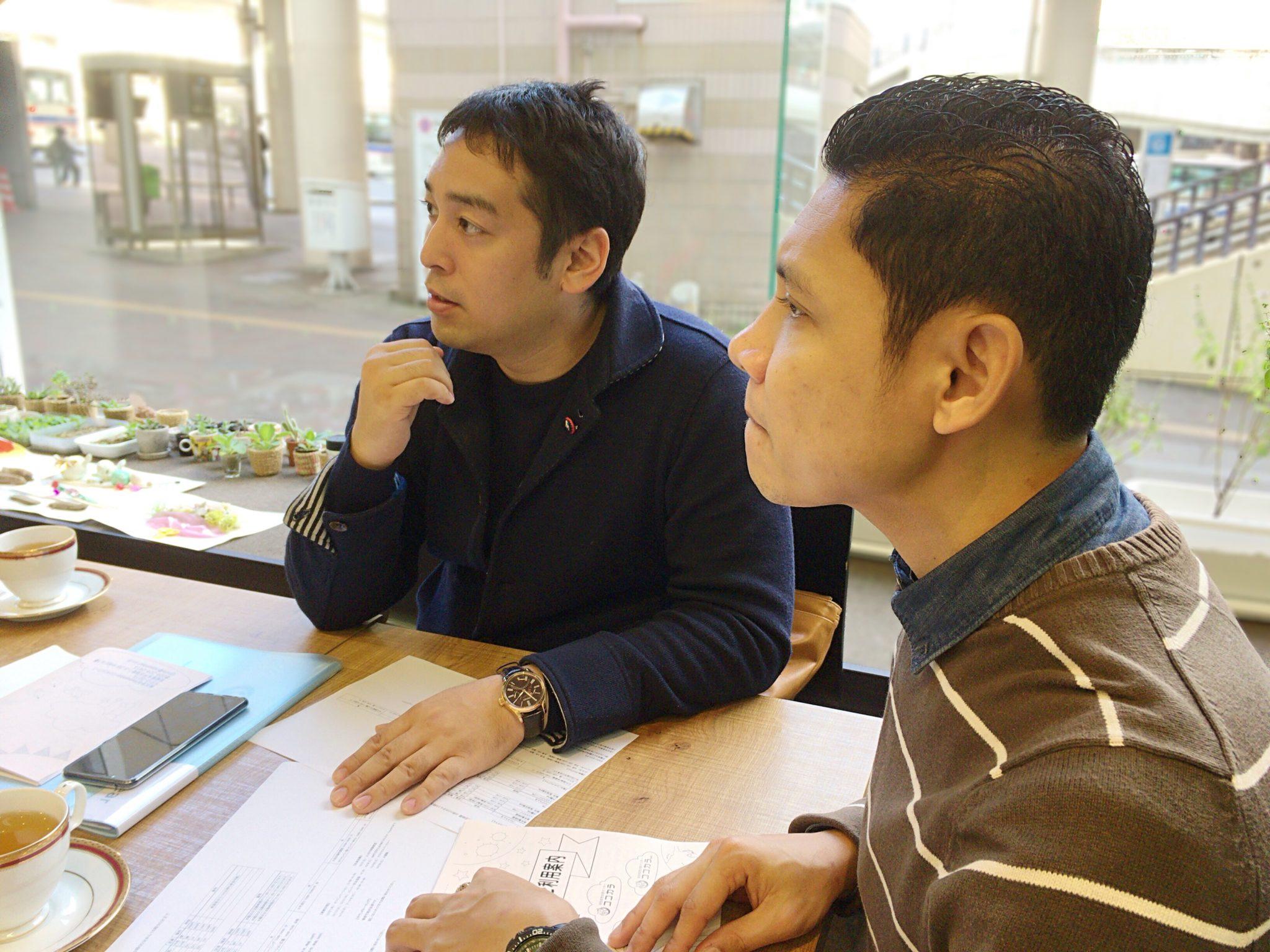 菲律賓講師Alfie(Alfie),首席執行官Takashi Shigeru Goto,訪問日本